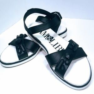 Sam & Libby black and white sandals sz 7